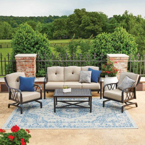 Sam 39 S Club Member 39 S Mark Millers Creek Sunbrella Seating Set Garden Furniture Sets Outdoor Patio Garden Patio Furniture