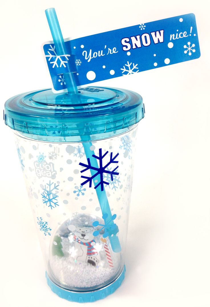 You're Snow Nice! That's what they will be saying when they open their holiday snow globe tumbler. #CoolGear