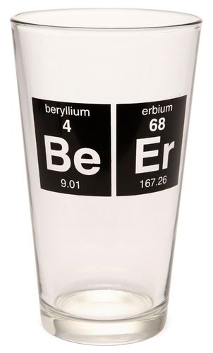 25 best science building design images on pinterest periodic the periodic beer glass is the intellectuals mug of choice it displays the beryllium and erbium elements whose symbols urtaz Gallery