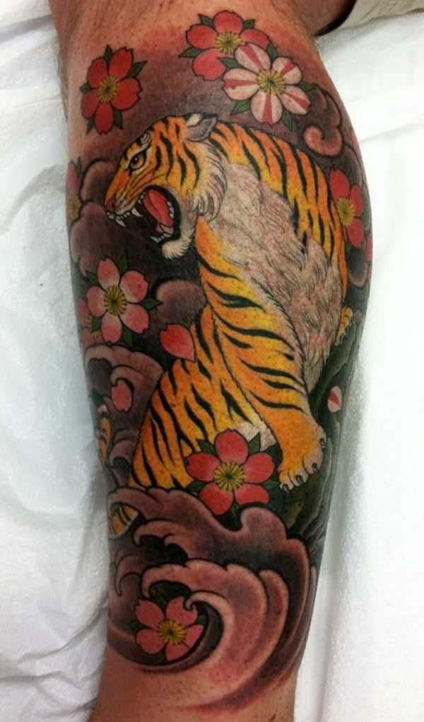 Tiger Cherry Blossom Tattoo Meaning