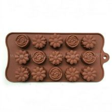 1 шт. цветы-форма конфеты желе бар плесень кухонные принадлежности силиконовые формы для торта украшения инструменты для приготовления пищи(China (Mainland))