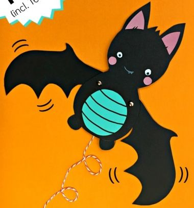 Cute & easy bat puppet - Halloween paper craft for kids // Mozgatható szárnyú papír denevér sablonnal // Mindy - craft tutorial collection // #crafts #DIY #craftTutorial #tutorial #HalloweenCrafts #Halloween #DIYHalloweenDecor #DIYHalloweenCostumes