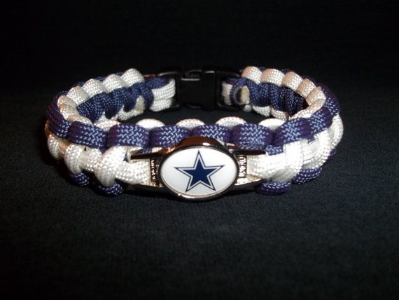 Dallas Cowboys Paracord Bracelet by kgsparacordstore on Etsy, $16.00
