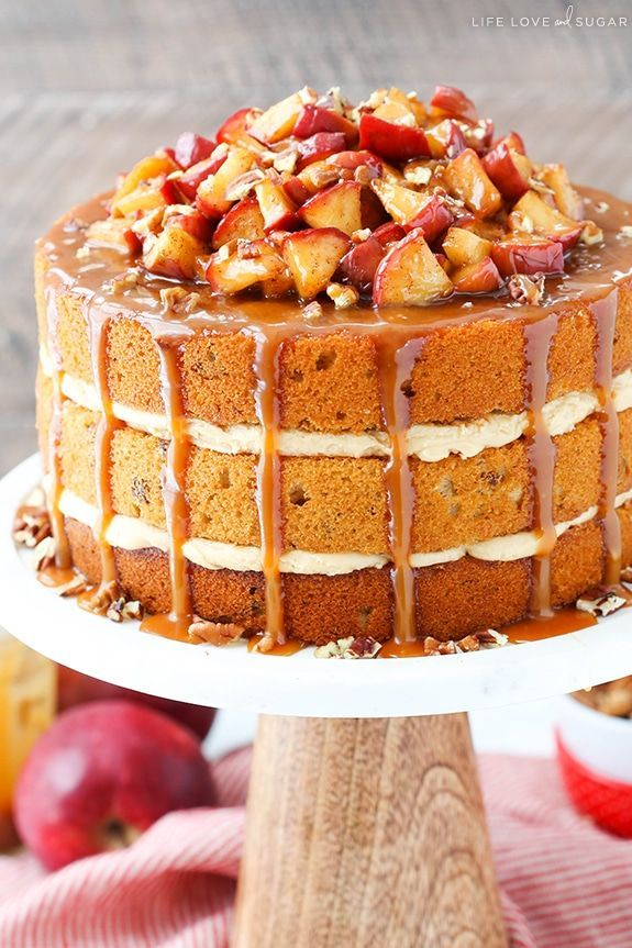 This Caramel Apple Pecan Layer Cake has layers of moist apple spice cake sprinkled with pecans, caramel frosting, cinnamon apples, and more caramel drizzled over top! It is full of the flavors of fall and is the perfect way to kick off apple season! So although I say that the hubs and I live in …