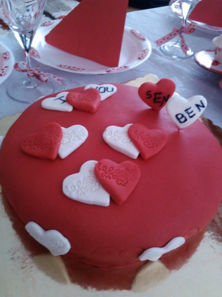 Hazırladığım Evlilik yıldönümü pastası
