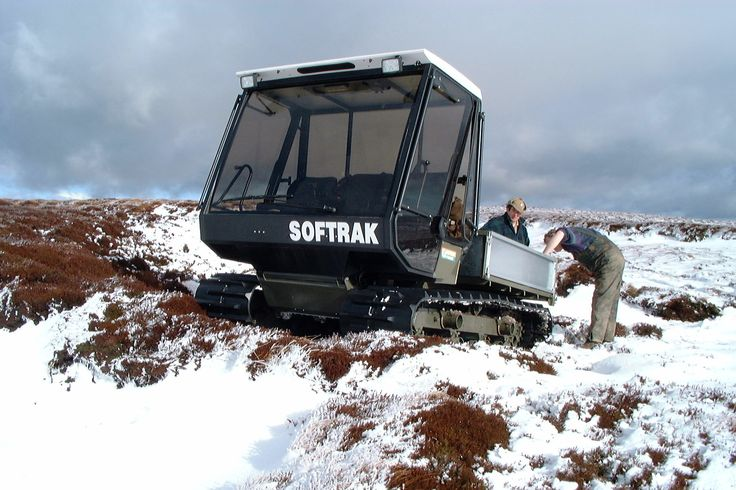 Loglogic #Softrak laying grouse grit in the Peak district.
