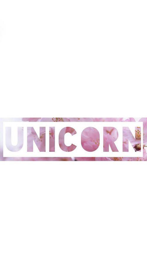 Pink Flower 'UNICORN' Wallpaper ♡♥♡♥♡♥