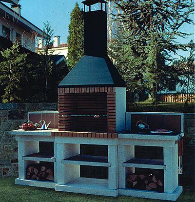 66 mejores im genes de churrasqueras en pinterest madera for Barbacoa patio interior