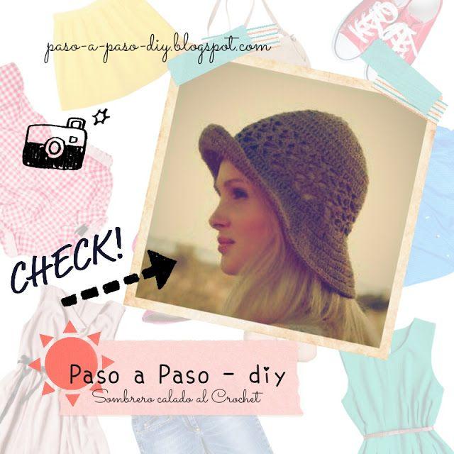 Sombrero Calado al Crochet - PAso a Paso