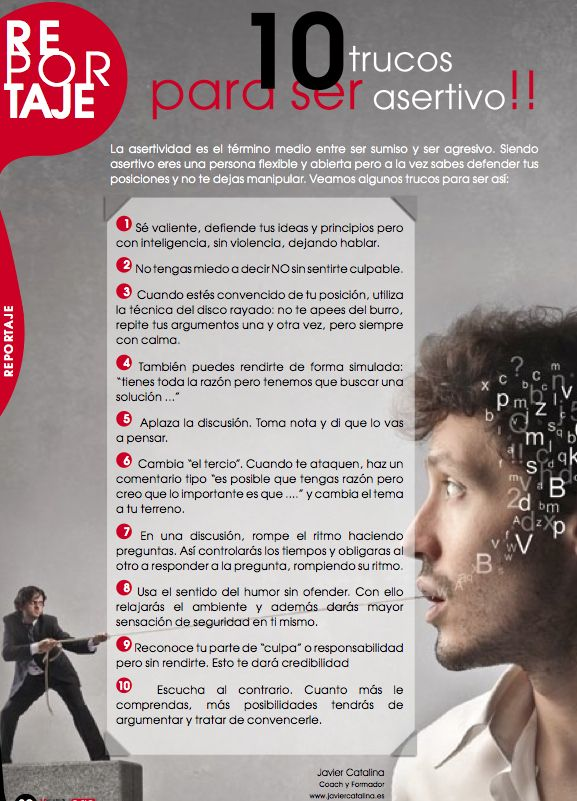 10 trucos para ser asertivo #asertividad