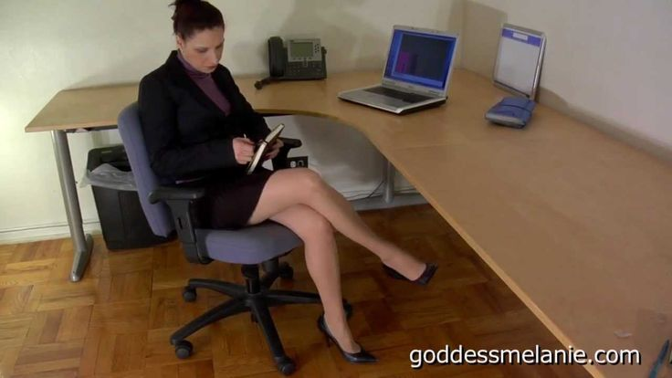 Candid shoeplay feet dangling flats during meeting - 2 part 10