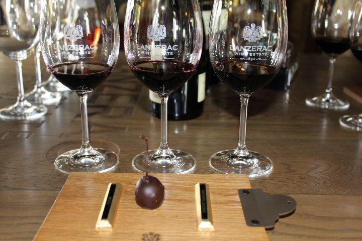 Lanzerac Red wine and chocolate tasting