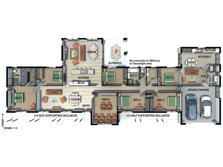 20 best house plans images on pinterest house blueprints for Self contained house plans