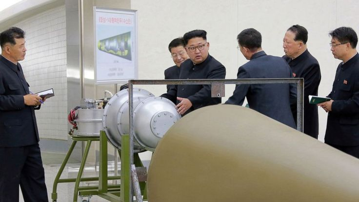 "North Korea said Sunday that it successfully conducted a test of a hydrogen bomb meant to be loaded onto an intercontinental ballistic missile (ICBM). The announcement was made on state-run television. A newsreader called the test a ""complete success"" and said the ""two-stage thermonuclear weapon""..."