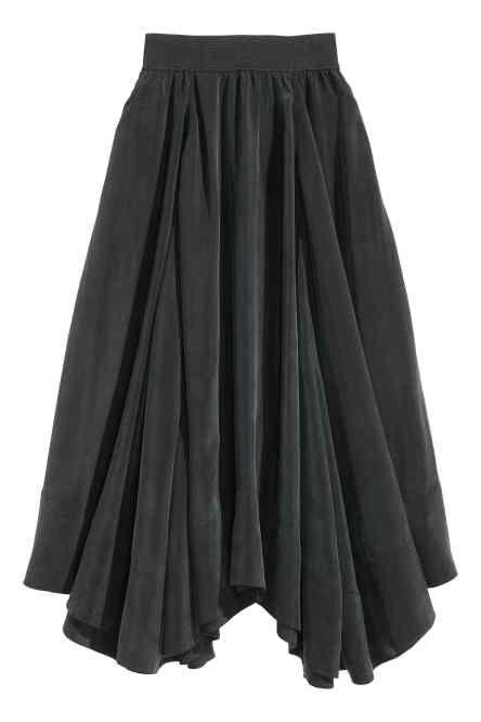 Cupro maxi skirt