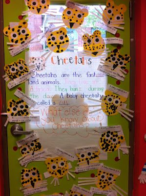 We also learned about cheetahs. We used our thumbprints for the spots.