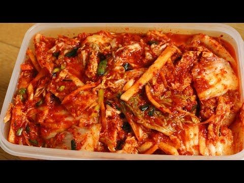 Easy kimchi recipe - Maangchi.com/ I like a lot of things about this, but of course leave out all non-vegan ingredients!