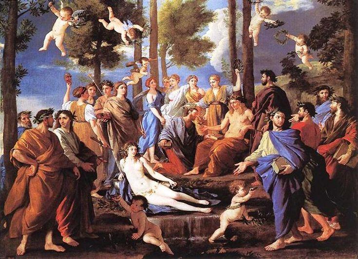Apolo y las Musas - Nicolas Poussin. Titulo original: Apollon et les Musas