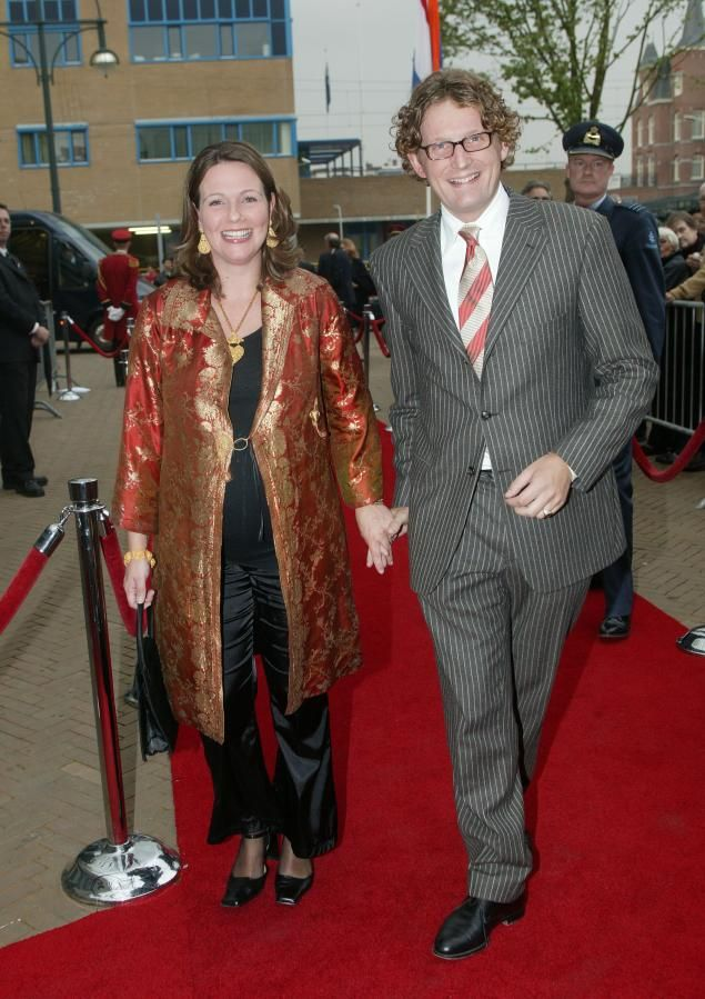While pregnant in 2004, Dutch Princess Annette toted her growing baby bump along with her to a red carpet event in Scheveningen in The Netherlands. The royal, married to Dutch Prince Bernhard Jr., flaunted her flair for fashion in an Asian-inspired black and gold brocade robe, which she wore over a black smock and matching satin pants. She and her husband have three children together.