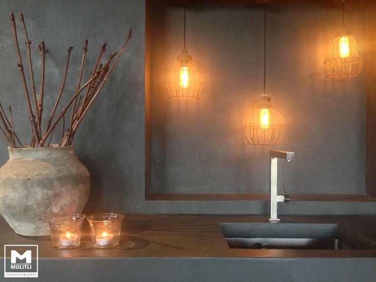 Betonlook keuken showroom Molitli Interieurmakers