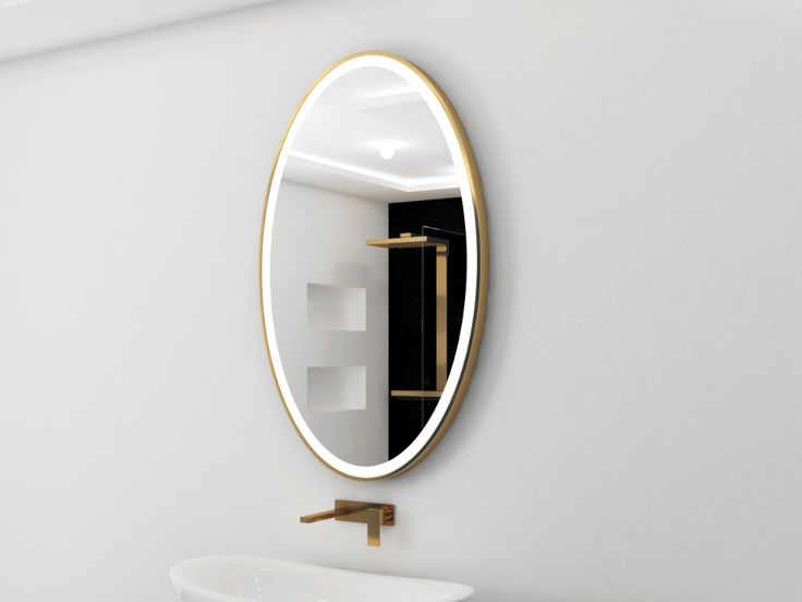 Gold Bathroom Mirror