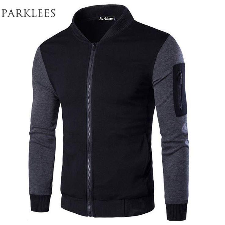 Bomber Jacket Men Veste Blouson Homme 2017 Mens Fashion Patchwork Sleeve Zipper Baseball Jacket Light Weight Mens Spring Jackets $57.99   #instafashion #styles #style #instastyle #streetstyle #model #instalike #fashion #shopping #swag #beauty #glam #dress #sweet #cool