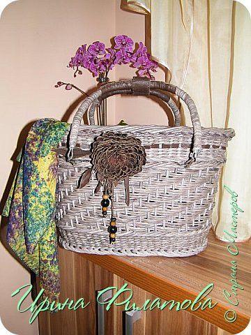 Поделка изделие 8 марта Плетение Подарок для мамы   Бумага газетная Бусины Картон Клей Кожа Проволока фото 1