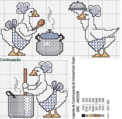 Arte by Cachopa - Ponto Cruz I: Gráfico - Animais - Patos - Patinhos