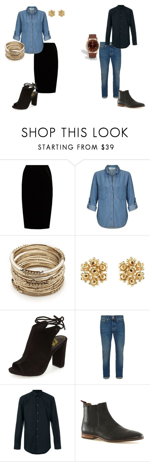 """""""black and denim"""" by mykayla-williamson on Polyvore featuring Jupe By Jackie, Miss Selfridge, Sole Society, Topman, Dolce&Gabbana and ASOS"""