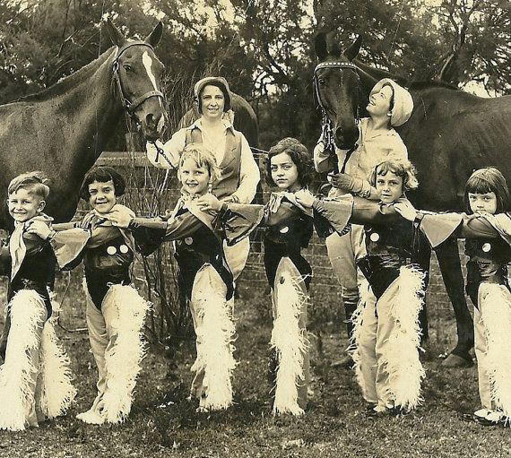 Lenora Dorian Cowgirls Line Up Vintage 1920's by TheIDconnection, $20.00