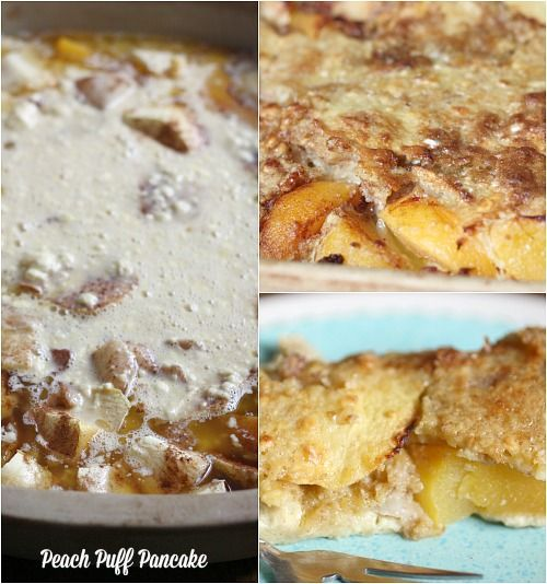 From My Bed & Breakfast: Peach Puff Pancake Recipe - Balancing Beauty and Bedlam