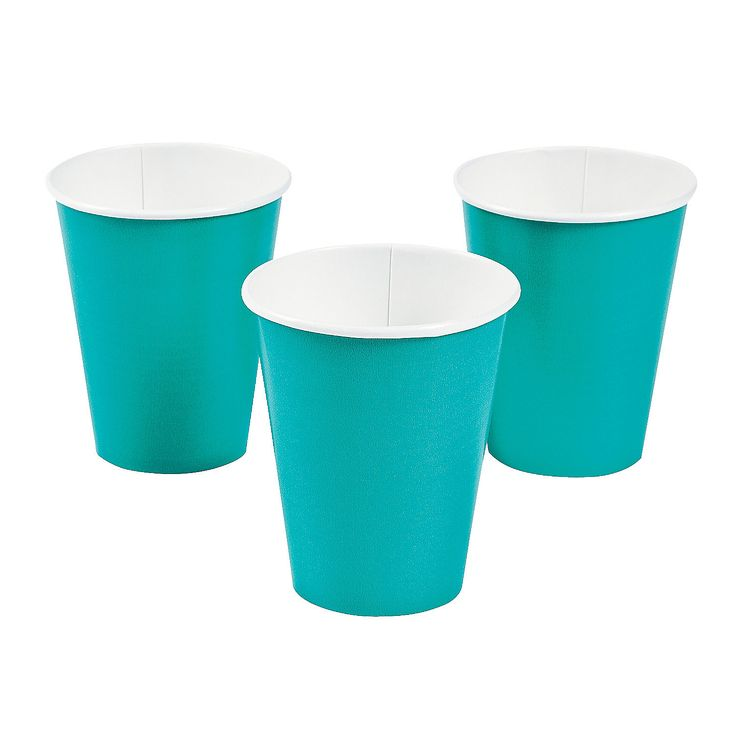 Tropical Teal Cups - OrientalTrading.com $2.00 (when you buy 3) for 24 cups