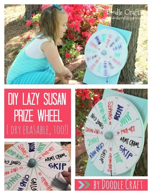 DIY Prize Wheel Tutorial by Doodle Craft!. . . . . . Do this with different exercises on it!