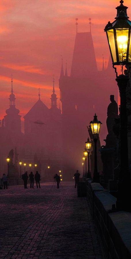 Morning fog at Charles Bridge in Prague, Czech Republic • (photo: Markus Grunau on 500px)Nevada