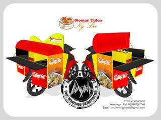 Desain Logo | Logo Kuliner |  Desain Gerobak | Jasa Desain dan Produksi Gerobak | Branding: Desain Gerobak Motor Siomay Tulen Ny Lie