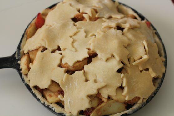 Autumn Apple Pie Baked In Cast Iron Recipe Crust