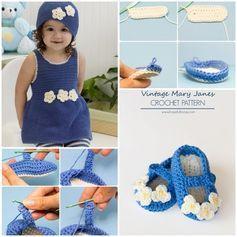 crochet-romper-hat-slippers-set-free pattern
