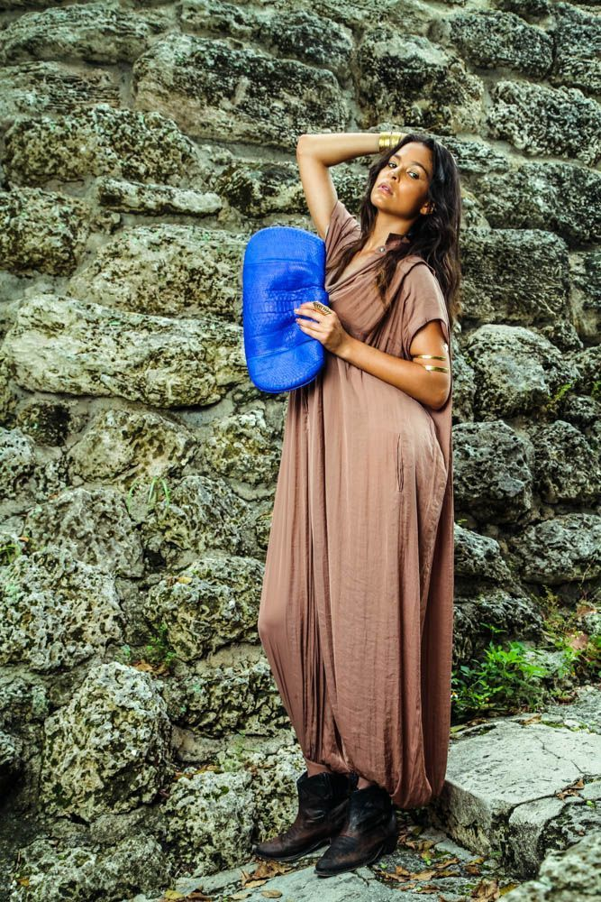 Cyndi Bubble Clutch in Cobalt Blue. Contact info@societymisfits.com.