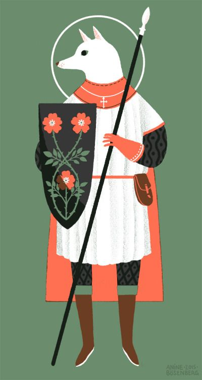 A wee Saint Christopher in between projects.