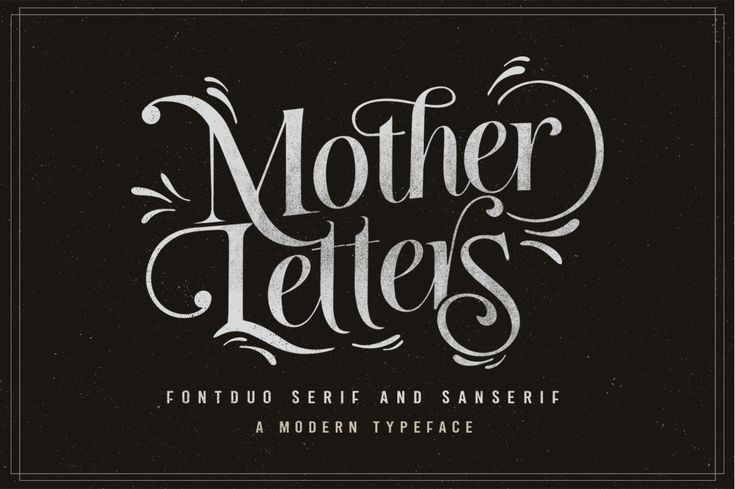 Mother Letters is a beautiful font duo that combines both the Luiston and Samiyatta, now available in one pretty package. With added bonuses and illustrations, this will be your one stop shop for adding some handcrafted love to your projects.