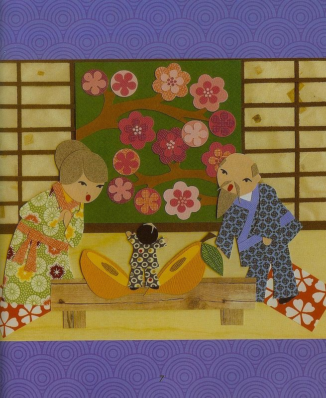 Momotaro (The Peach Boy): A Japanese Folktale, illustrated by Betsy Thompson