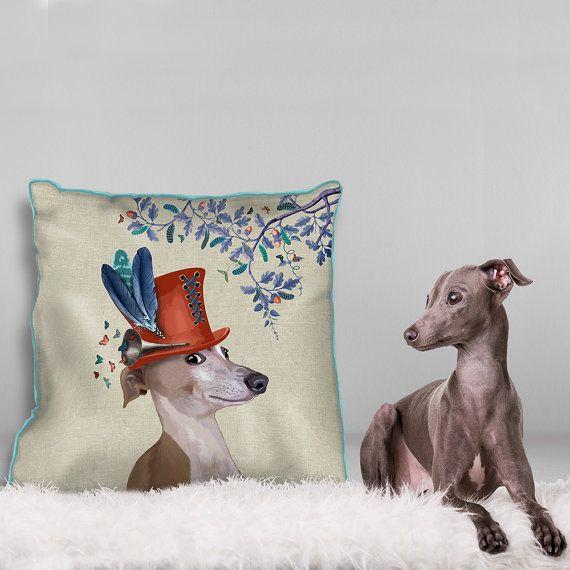 Greyhound kussen cover kussensloop Greyhound Greyhound cadeau Italiaanse windhond kussen Italiaanse windhond Gift hond afdrukken kussen dieren kussen