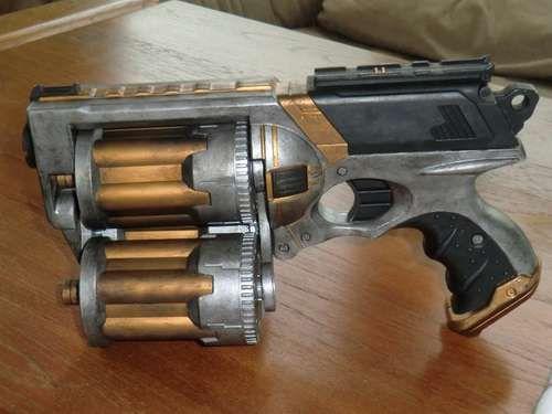 DIY - 18 Shot Nerf Maverick. Steampunk .