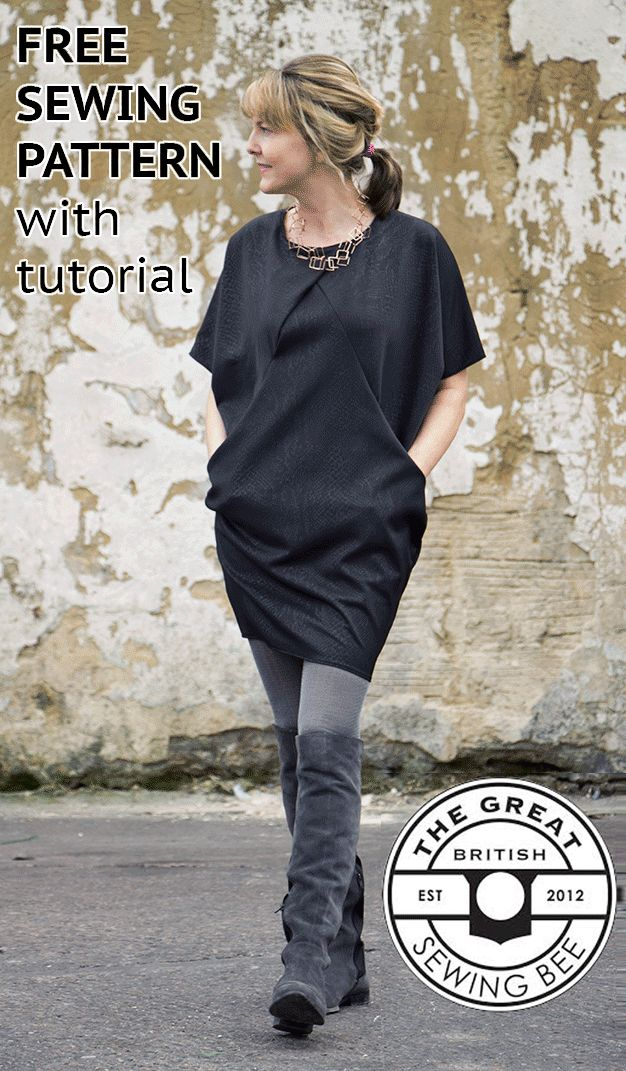 "FREE SEWING PATTERN with TUTORIAL. This is for a beginning sewer who is looking for something different, that's a bit of challenge.and with a more tech look. It's made with knit fabric, so look at Pinterest posts for sewing knit fabric before you start cutting!!! I have a few good ones on my ""Learn How to Sew "" board ...Chickoteria!"