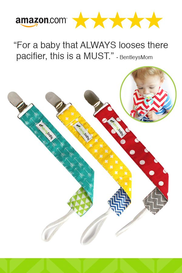 Check out these adorable 3 Pack of Pacifier Clips by SavvyBaby! You can save $2 off when you order from Amazon.com by using the code from the pin above. (Coupon expires 12/31/15)