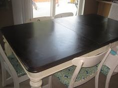 How to refinish a veneer table-refer to this for redoing nightstands