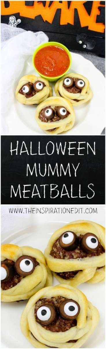 Are you looking for a fun Halloween treat for the Kids? Why not try out this tasty Halloween Mummy Meatball recipe. It's cute and fun and will be a big hit for all the family.