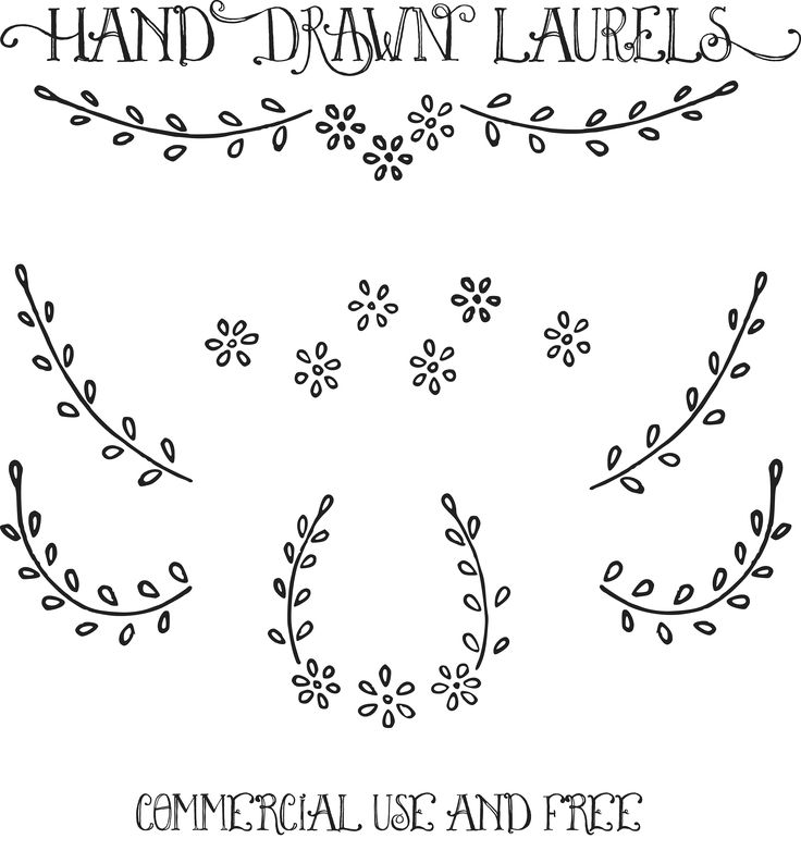 Royalty Free Images   Hand Drawn Laurels Clip Art   Vectors   Oh So