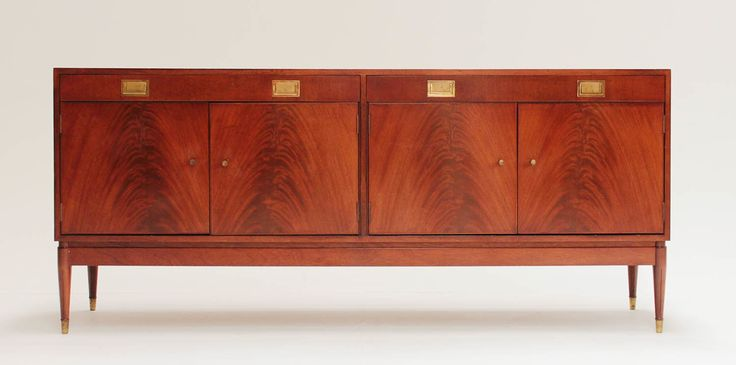 Afromosia & Rosewood Mid Century CREDENZA/Drinks Cabinet by Greaves and Thomas. MCM. Brass Feet by ModCenturyVintage on Etsy