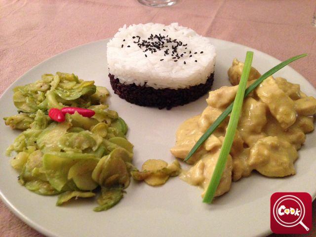 Pollo al curry con riso basmati e venere di steve1981. Scopri la #ricetta su www.acook.it. Segui i gustosi piatti dei #cuochi di acook e vota i tuoi preferiti. #BuonAPPetito!